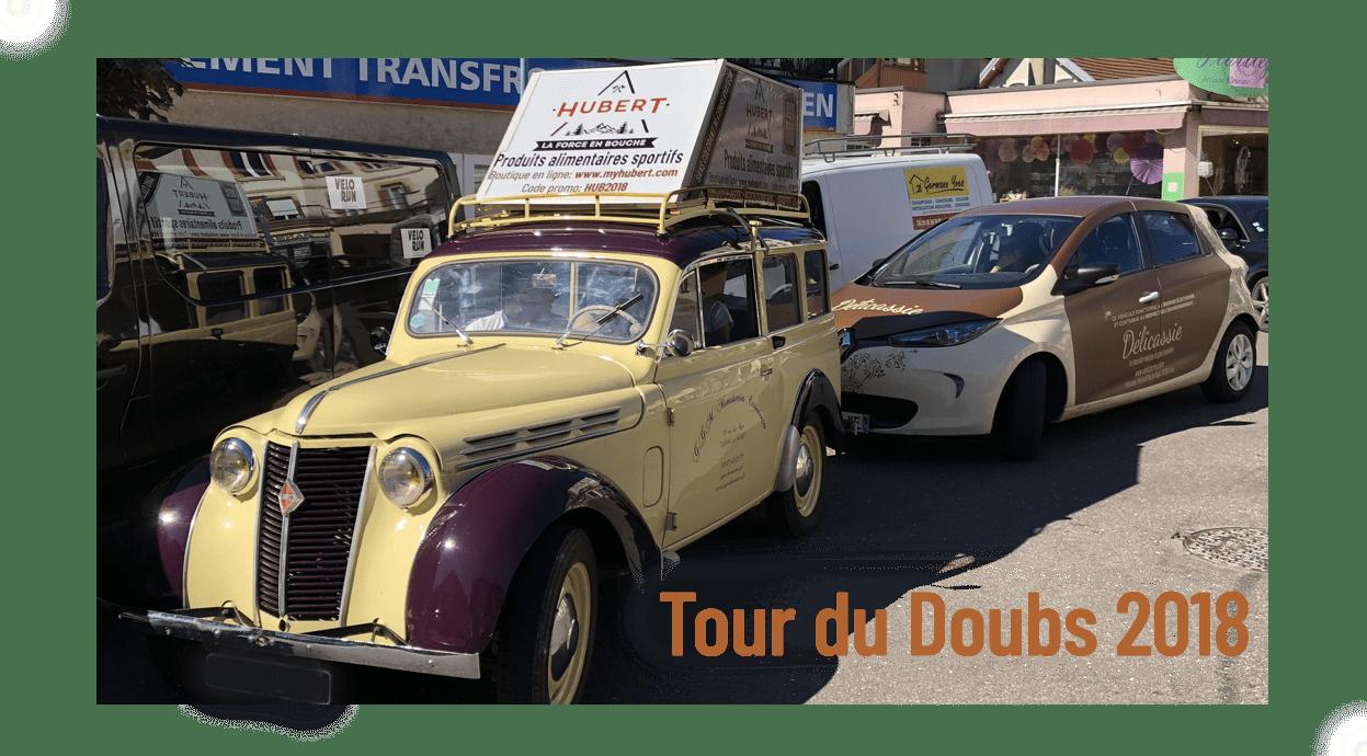 Hubert dans la caravane du Tour du Doubs !